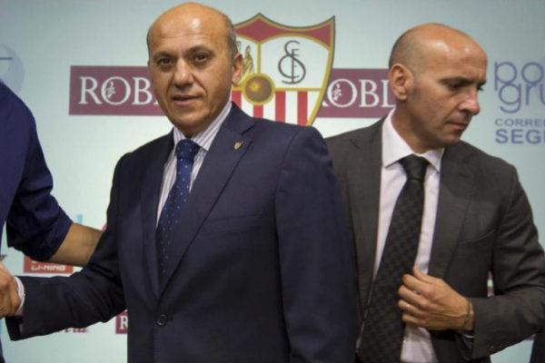 Del Nido y Monchi, en mayo de 2012.