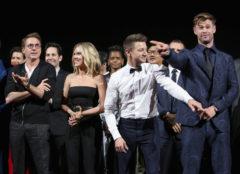 Parte del elenco de 'Vengadores: Endgame' durante el estreno en Los Ángeles.