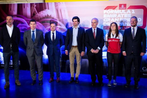 Sainz y Calderón, durante el acto de presentación del GP de España.