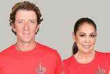 Los concursantes Colate Vallejo-Nágera e Isabel Pantoja posan como concursantes oficiales del 'reality' de Telecinco Supervivientes 2019