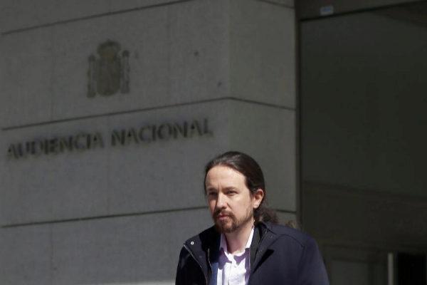 Pablo Iglesias sale de la AN tras declarar en el caso Villarejo