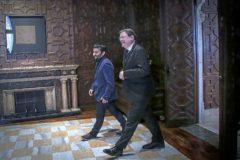 El presidente de la Generalitat, Ximo Puig, junto al conseller de Educación, Vicent Marzà, ayer en el Palau.