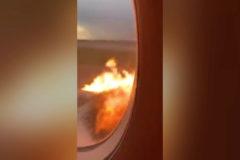 El horror desde dentro del avión incendiado en Moscú