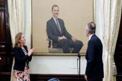 El retrato de 88.000 euros del Rey ya cuelga en el Congreso