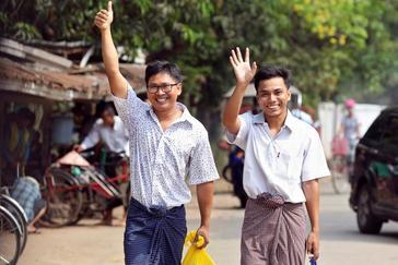 Liberados los periodistas encarcelados por desvelar una masacre contra la minoría rohingya