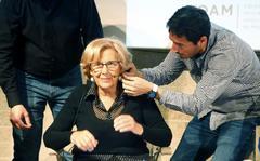Manuela Carmena, ayer, en un debate.