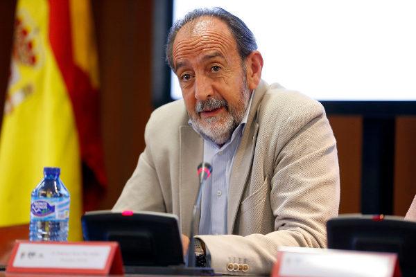 Paco Díez, presidente de la Federación Madrileña de Fútbol