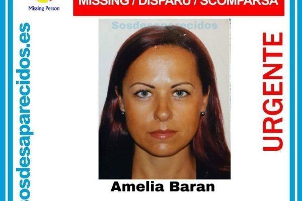 Cartel de la desaparición de Amelia Baran.