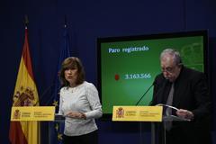 La secretaria de Estado de Empleo, Yolanda Valdeolivas, y el de Seguridad Social, Octavio Granado.