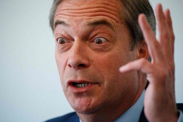 Nigel Farage durante una rueda de prensa, en Londres.