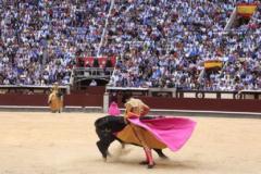 Media verónica de uno de los toreros actuante en la Feria de San Isidro del pasado año