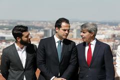 Ignacio Aguado, candidato de Ciudadanos a la Comunidad de Madrid (en el centro).