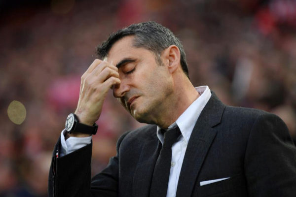 Ernesto Valverde, en Anfield.