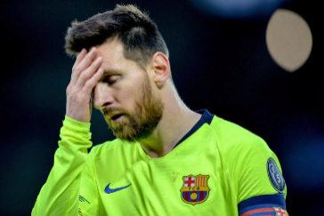 EPA6986. LIVERPOOL (REINO UNIDO).-Lionel <HIT>Messi</HIT> de Barcelona reacciona en el juego correspondiente a las semifinales de la Liga de Campeones de la UEFA, este martes en el estadio Anfield de Liverpool (Reino Unido).