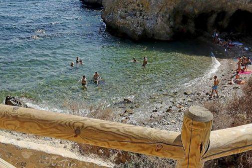 Una de las playas de Tabarca