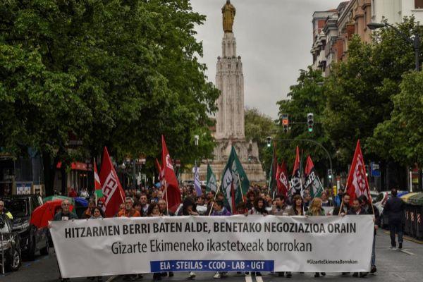 Manifestación de trabajadores de la enseñanza concertada.
