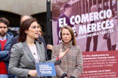 Leticia Comerón interviene en el acto de Vitoria.