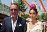 Carlos Herrera con su hija, Rocío Crusset (vestida por Lina).