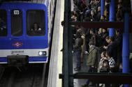 Huelga de maquinistas de metro en 2017.