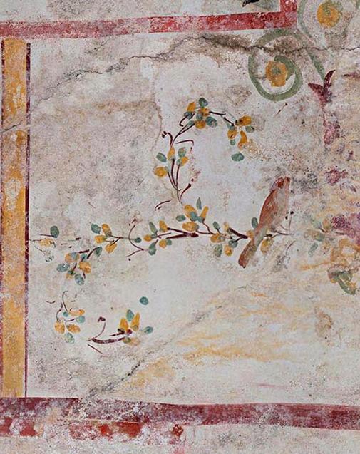 фреска с птицей