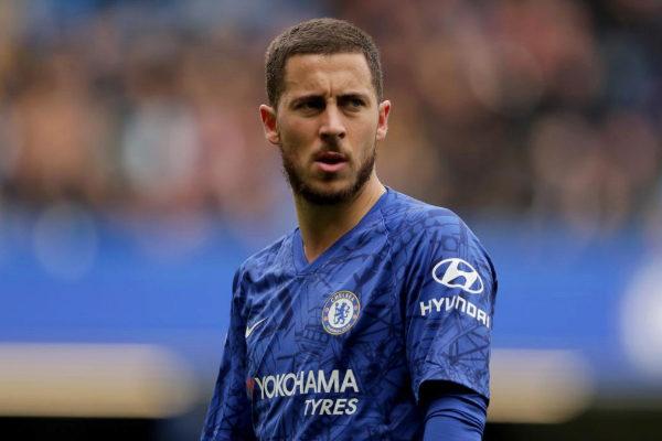 Hazard, durante un partido del Chelsea esta temporada.