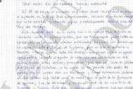 Fragmento de la carta del 'Rey del Cachopo' desde la cárcel.
