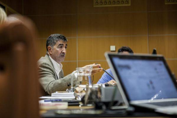 Roberto Seijo, secretario de Erne, durante una comparecencia en el Parlamento Vasco.