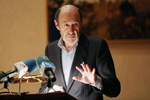 Alfredo Pérez Rubalcaba, durante una conferencia en la Facultad de...
