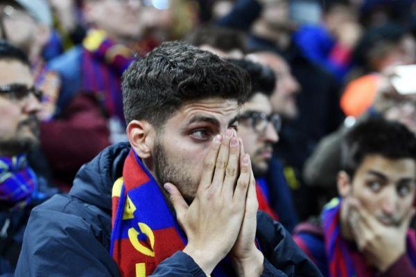 EPA6986. LIVERPOOL (REINO UNIDO).- Hinchas del Barcelona reaccionan en...