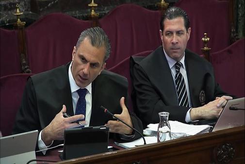 Los abogados de la defensa, Javier Ortega Smith y Pedro Fernández