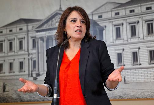 Adriana Lastra, en rueda de prensa tras recoger su acta de diputada
