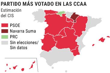 El PSOE podría gobernar en la Comunidad de Madrid después de 24 años de hegemonía del PP