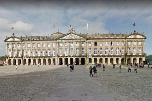 Ayuntamiento de Santiago de Compostela, capital de Galicia.