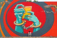Una de las obras de Werens, que  ha convertido Sabadell en el centro neurálgico del grafiti de la periferia de Barcelona.