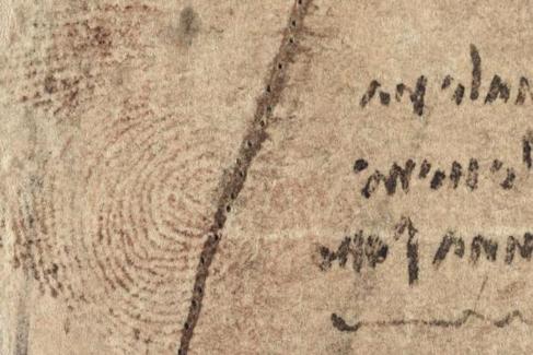 El Museo Ideale, en La Toscana, tiene inventariadas nueve de las 10 huellas dactilares dejadas accidentalmente por Leonardo en sus cuadernos y pinturas.