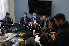 Antonio Ecarri, durante la rueda de prensa en Madrid.