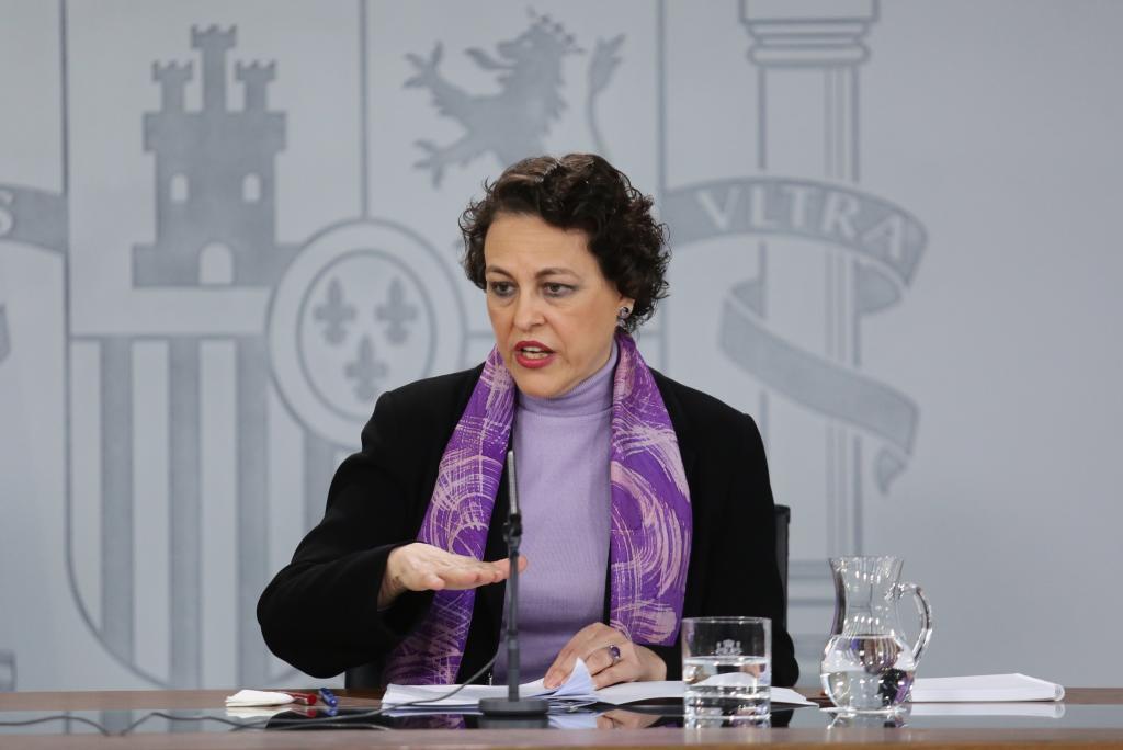 Magdalena valerio en el consejo de ministros del pasado 8 de marzio, cuando se aprobó el registro de jornada diaria.