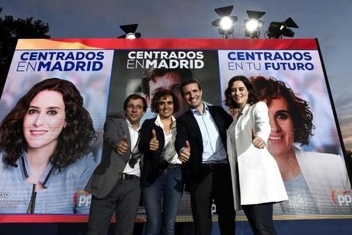 José Luis Martínez Almeida, Dolors Montserrat, Pablo Casado e Isabel...