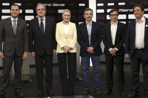 Debate a seis en Telemadrid en 2015.