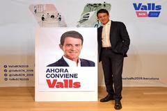 Valls con su lema de campaña 'Ahora conviene'
