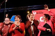Barcelona, 9 de Mayo de 2019 La alcaldesa en funciones y candidata de Barcelona en Común, Ada Colau con el voto de la formación durante el inicio de la campaña electoral a las municipales.