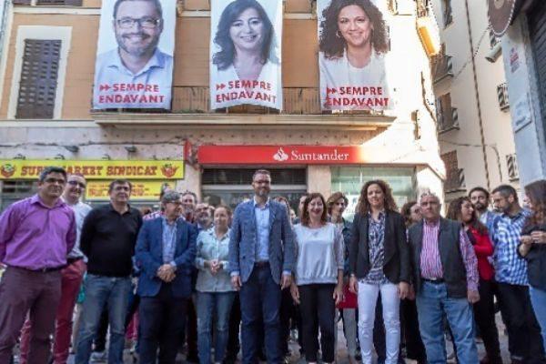 Los candidatos del PSIB en el acto de inicio de campaña.