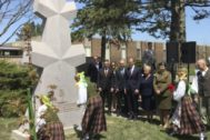 Monument to commander of Lithuanian partisans Adolfas <HIT>Ramanauskas</HIT>-Vanagas unveiled in Chicago