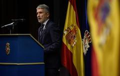 El ministro del Interior durante su intervención en el acto de recuerdo a víctimas de la Policía Nacional.