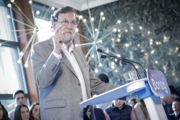Mariano Rajoy, durante un acto del PP para las elecciones autonómicas valencianas.