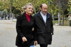 Pilar Goya y Alfredo Pérez Rubalcaba, en noviembre de 2011.