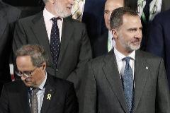 GRAFCAT8629. BARCELONA.- El <HIT>Rey</HIT> Felipe VI; el presidente de la Generalitat, Quim Torra (i), y la ministra de Industria en funciones, <HIT>Reyes</HIT> Maroto (d) durante la inauguración de la edición del centenario del Automobile, el Salón Internacional del Automóvil de Barcelona, donde participarán en un almuerzo con los organizadores del salón y las marcas participantes.