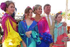 La familia real de los Países Bajos, en Sevilla
