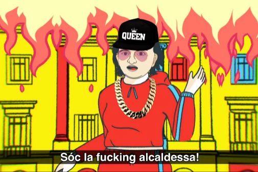 El personaje de Ada Colau en el reguetón 'Ada is in da house'.
