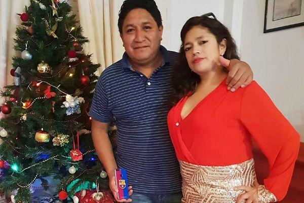 Marco y Lourdes, las pasadas Navidades, en su casa de Torre-Pacheco.